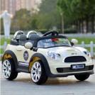 三乐 宝马款儿童电动车宝宝遥控小汽车四轮双驱童车小孩玩具车可坐低配单驱米色均码