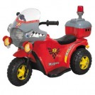 鹰豪 儿童摩托车 电动玩具 儿童电动车 儿童玩具警察巡逻三轮车红色均码
