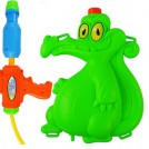 Qibao/琪宝 儿童 沙滩戏水 鳄鱼 汤姆猫背包式 抽拉 玩乐 高压喷水 水枪玩具 8836-7B