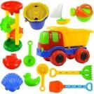 宏兴 沙滩玩具套装 玩沙子挖沙漏铲子工具 城堡模具 运沙车沙滩车升级版均码